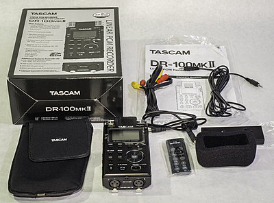 Lectro wireless kit, 4 Lavs, Shot Gun, recorder-tascam-dr-100mkii.jpg