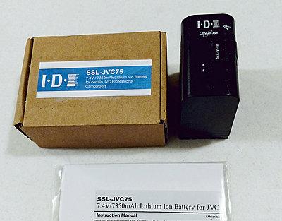 JVC IDX SSL75 Large Battery - GY-HM600U GY-LS300 GY-HM650U GY-HMQ10U GYHM200 and more-11.jpg