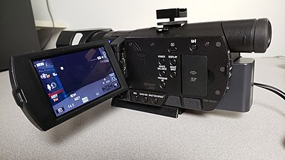 Sony AX100 with Sony Batteries and Adapter-1.jpg