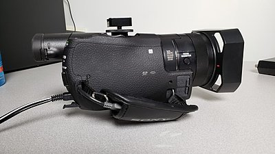 Sony AX100 with Sony Batteries and Adapter-3.jpg