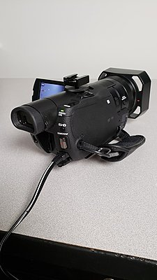 Sony AX100 with Sony Batteries and Adapter-4.jpg