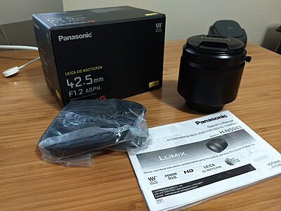 Panasonic Leica DG Nocticron 42.5mm f1.2 MINT/ PRISTINE CONDITION!-panasonic-leica-42.5-f1.2-kit.jpg