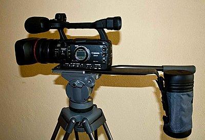 Homemade Shooting Brace for Canon XH-support1.jpg