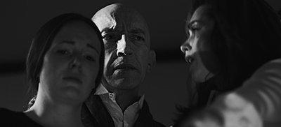 """grabs from """"Exhumed"""", indie B&W suspense/horror on Red-sarah-michael-debbie.jpg"""