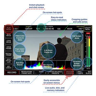2K Digital Cinema Camera Streamlines Movie and HD production-silicondvr_interface_main.jpg