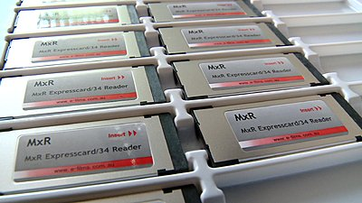 MxR Expresscard Reader moves from final QC to Shipping-mxr_tray2.jpg