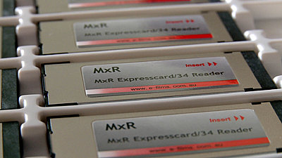 MxR Expresscard Reader moves from final QC to Shipping-mxr_tray.jpg