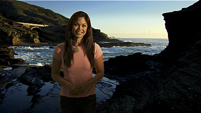 """High-end"" green screen shot with the EX1-cindy-lanai-lookout-2a.jpg"