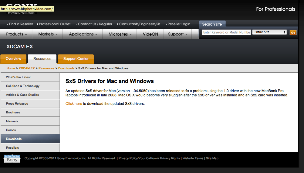 Sony Xdcam Sxs Driver For Mac - agencybaldcircle