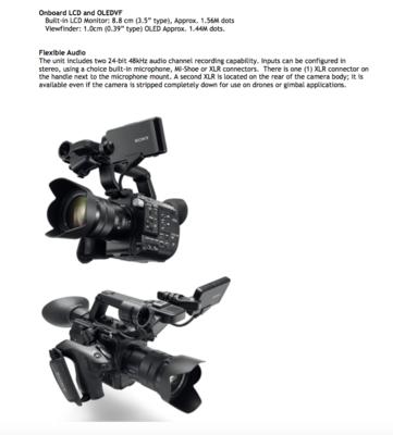 NEW! Sony Announced PXW-FS5 4K, Pre-Order Now wth alt=