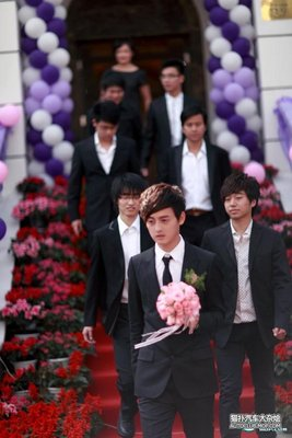 Parade of cars at Chinese Wedding-groom.bmp
