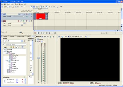 MPG file is red in timeline and preview is blank-vegas-red-clip-timeline.bmp