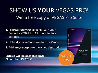 Show us YOUR VEGAS and win a free copy of VEGAS Pro 15 Suite worth 9.00!-vegasproworkflowad.jpg