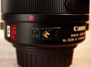 The 16x Manual Servo lens macro button.