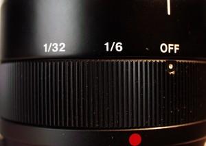 The neutral density Filter ring.