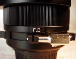 The flange-back (back-focus) adjustment.