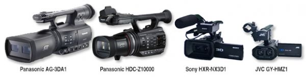 Professional 3D Camcorders