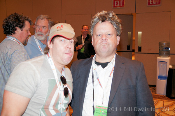 An NAB after hours event, the SuperMeet (Dan Berube's coonskin cap is optional).