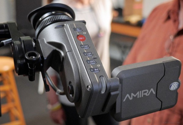 Amira EVF/LCD with LCD flipped open.