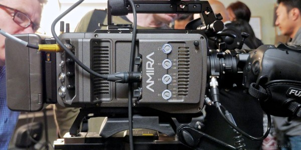 Audio-setup controls and connectors: two 3-pin XLRs plus one 5-pin XLR. Video I/O at the back.