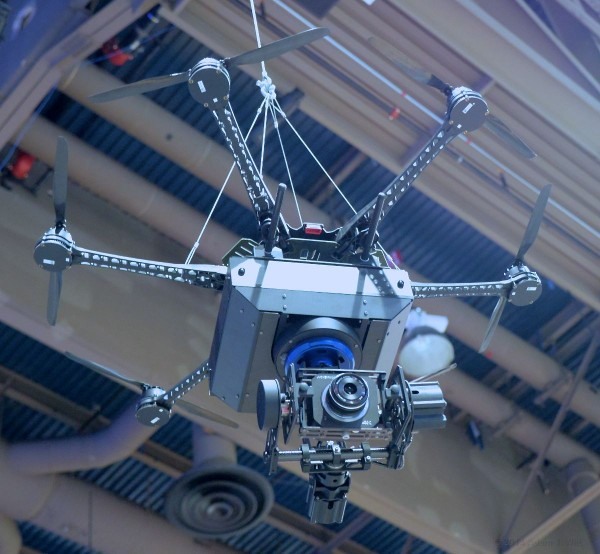 The 4K gimbal camera (hexacopter not included, presumably). Click for larger image.