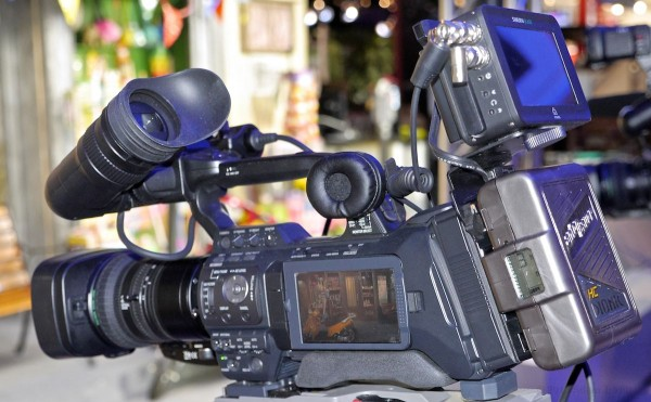 GY-HM890. The camera includes record triggering for the Atomos Samurai Blade ProRes recorder. Click for larger image.
