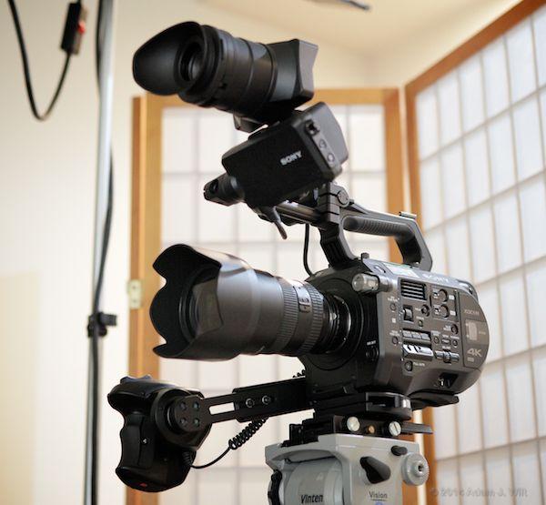 PXC-FS7 wearing a Nikon 17-55mm F/2.8 G zoom