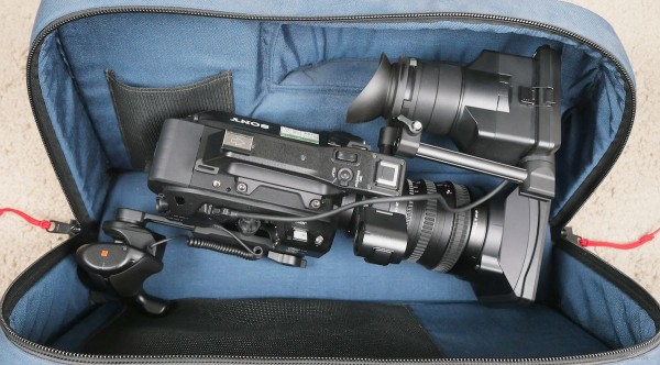 FS7 with 28-135mm, SmartGrip folded back