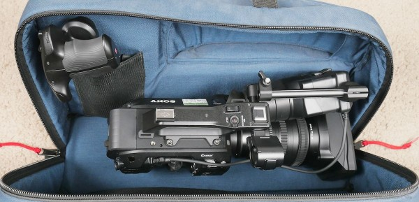 FS7 with 28-135mm, SmartGrip removed, VF folded down