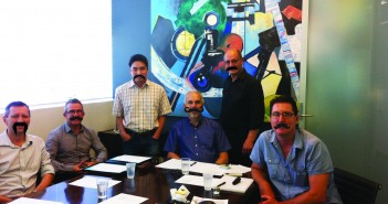 Miller Board of Management and their Moustaches, L-to-R: Michael Abelev, Anthony Dobbyn, Koncoro Soewono, Mark Clementson, Charles Montesi and Darren-Burns.