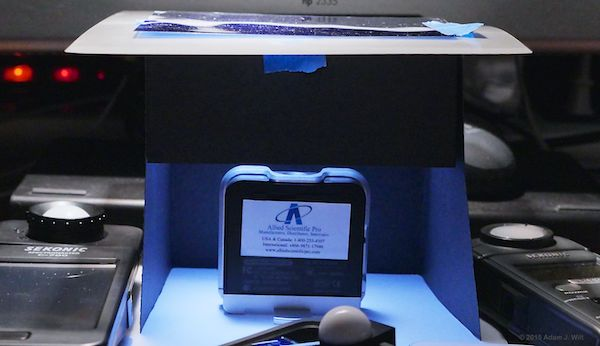 Lighting Passport reading halogen with 1.5CTB filter