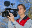 DVi member Tim Polster with the Panasonic AJ-PX270 P2 HD handheld camcorder.