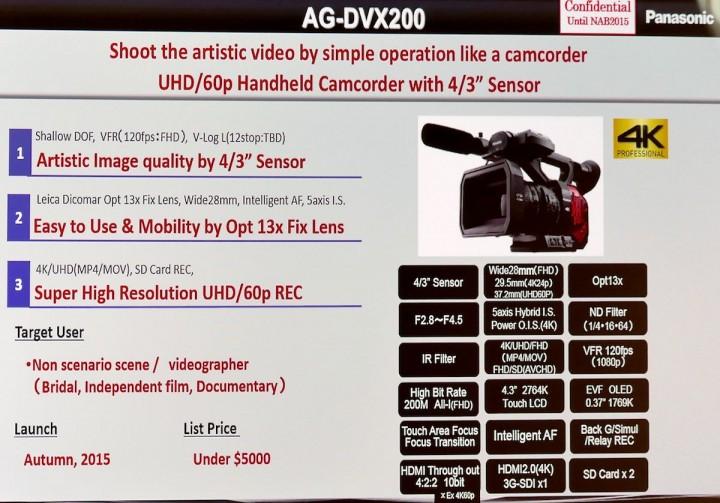 AG-DVX200 specs.