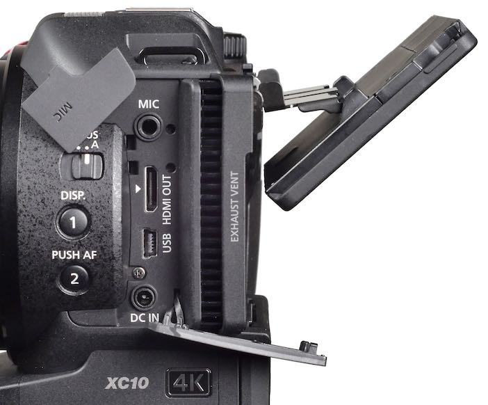 Left side. Note double-jointed LCD, angled down