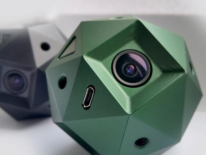 The Sphericam VR360 4K 60p video camera.