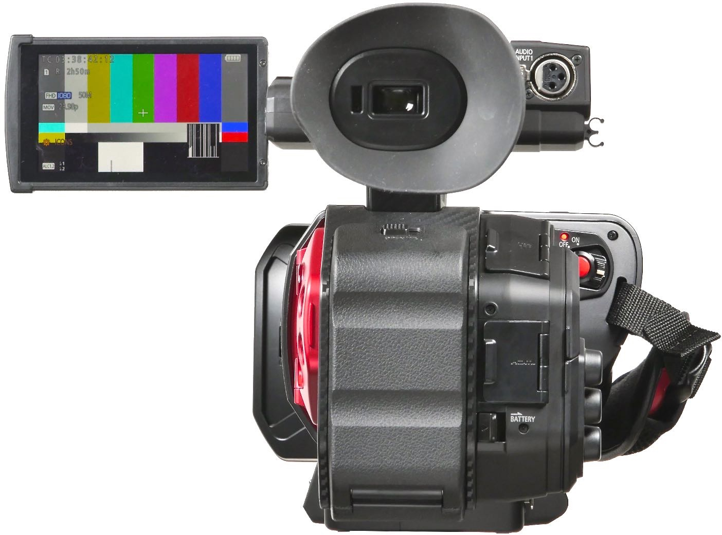Review Panasonic Ag Dvx200 4 3 Sd To 4k Fixed Lens Camcorder Video Camera Diagram Labeled Chapter The Back Of Is A Hinged Door Over Battery Compartment Evf Can Be Flipped Up Out Way So You Hold