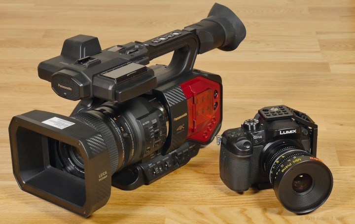 DVX200 alongside a DMC-GH4 MFT camera