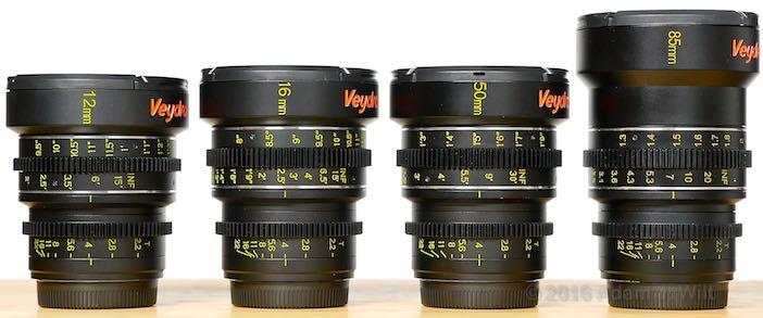 Veydras: 12mm, 16mm, 25mm, 35mm, 50mm, 85mm