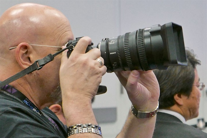 Mark Forman using the Sony 28-135mm zoom as a stills lens