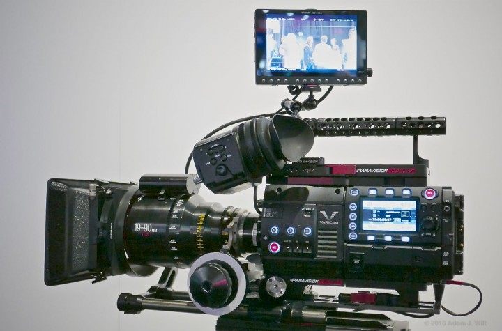 """Panavised"" Varicam 35 with Panavision glass"