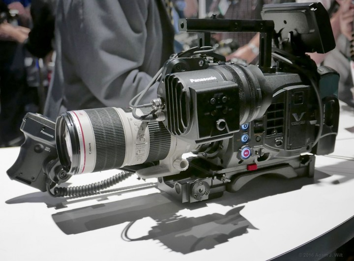 Varicam LT with Canon 70-200mm EF lens