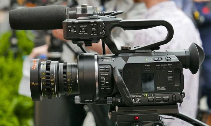 Veydra MFT mini prime on JVC's MFT 4K camcorder