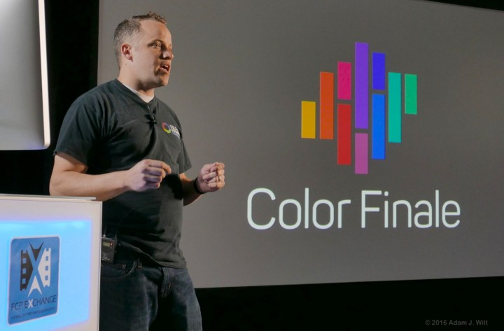 Denver Riddle at FCP Exchange introducing the Color Finale Pro grading plugin