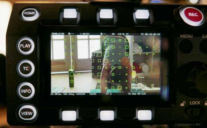 "Varicam's ""growing squares"" focus indicator"