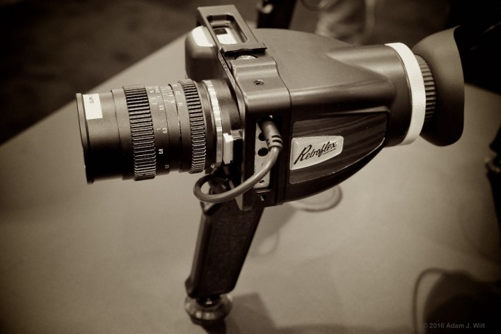 Redrock Micro's Retroflex loupe and handgrip on a BM Pocket Cine Camera