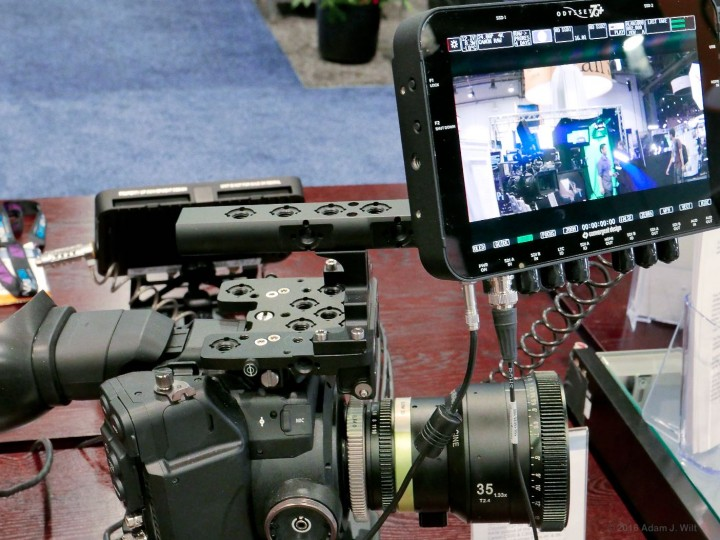 SLR Magic 35mm 1.33x on C300, with Odyssey7Q+ anamorphic desqueezing.