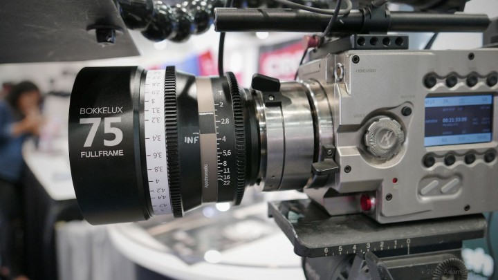 Bokkelux cine prime on a Kinefinity cine camera