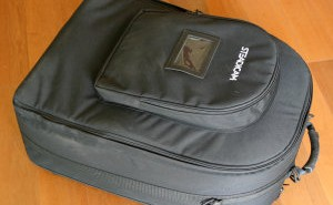 Above: the handy Pilot backpack.