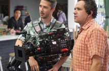 Charles on the right with A cam operator Neal Bryant on the set of Mary + Jane