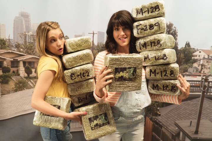 Paige (Jessica Rothe) and Jordan (Scout Durwood) run an all-female weed delivery service in LA (photo courtesy of MTV Networks)